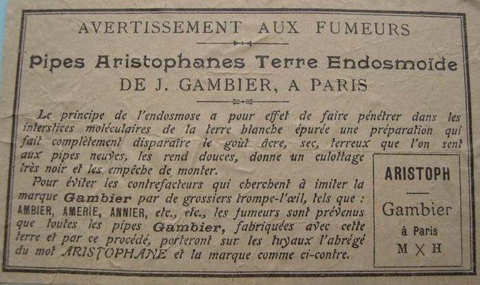 Pipe en Aromite Advertentie-Gambier-e1416940715789